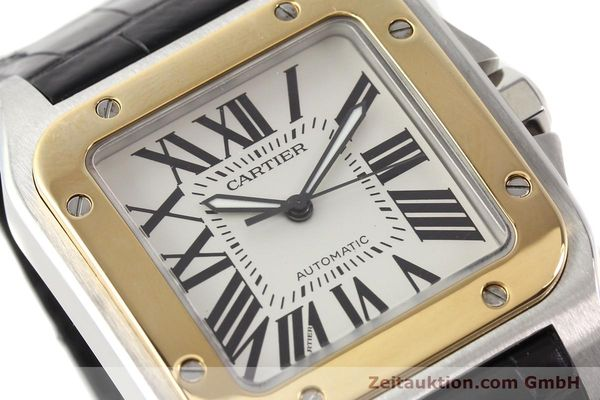 Used luxury watch Cartier Santos steel / gold automatic Kal. 049 ETA 2892A2  | 141329 02