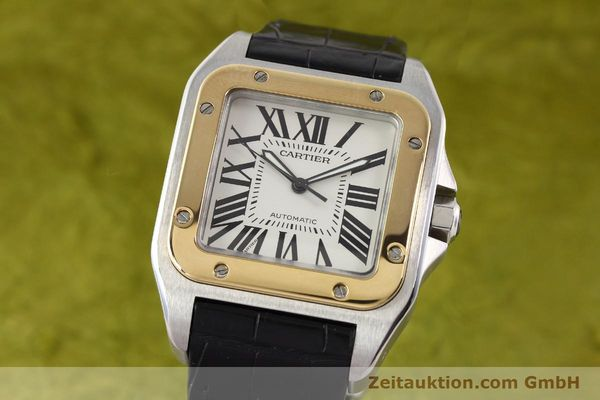 Used luxury watch Cartier Santos steel / gold automatic Kal. 049 ETA 2892A2  | 141329 04