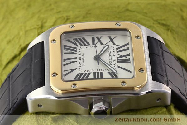 Used luxury watch Cartier Santos steel / gold automatic Kal. 049 ETA 2892A2  | 141329 05