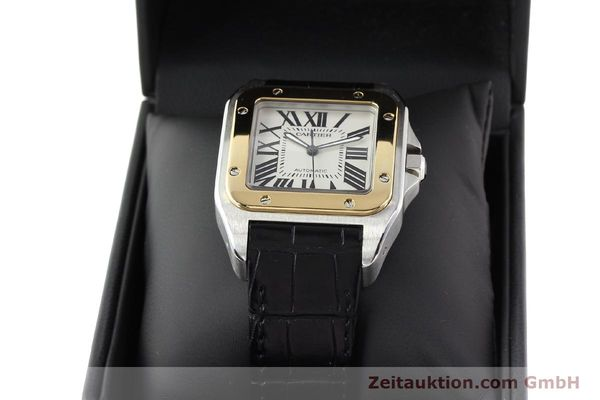 Used luxury watch Cartier Santos steel / gold automatic Kal. 049 ETA 2892A2  | 141329 07