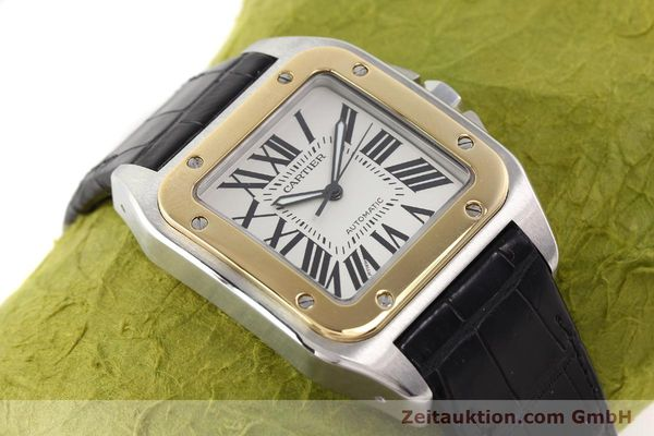 Used luxury watch Cartier Santos steel / gold automatic Kal. 049 ETA 2892A2  | 141329 13