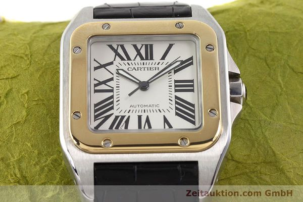 Used luxury watch Cartier Santos steel / gold automatic Kal. 049 ETA 2892A2  | 141329 14
