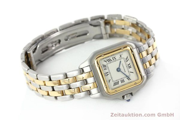 Used luxury watch Cartier Panthere steel / gold quartz Kal. 157  | 141333 03