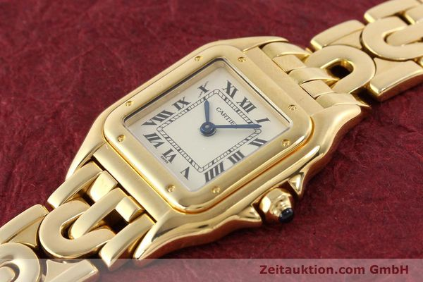 gebrauchte Luxusuhr Cartier Panthere 18k Gold Quarz Kal. 057  | 141334 01