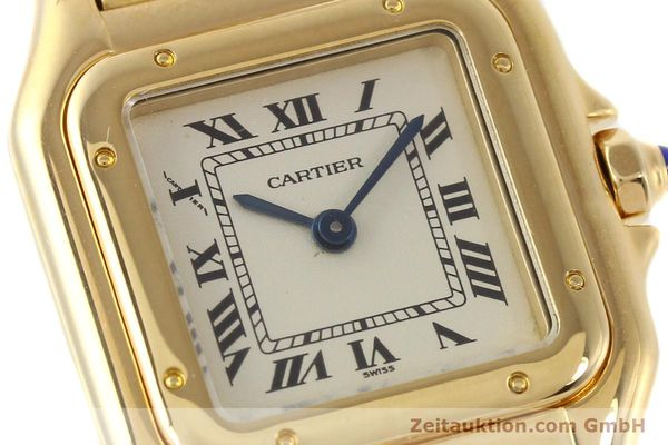 gebrauchte Luxusuhr Cartier Panthere 18k Gold Quarz Kal. 057  | 141334 02