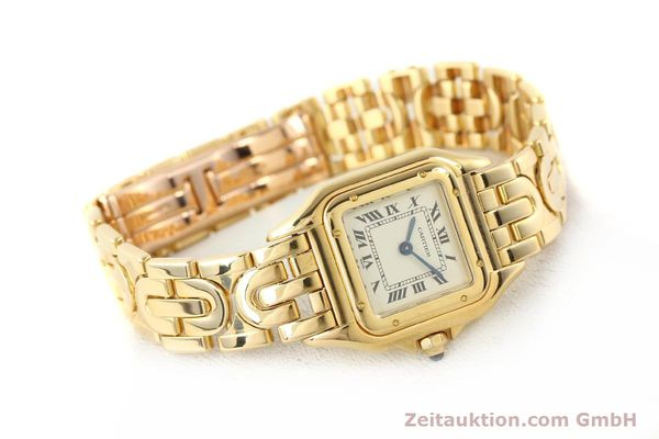 gebrauchte Luxusuhr Cartier Panthere 18k Gold Quarz Kal. 057  | 141334 03
