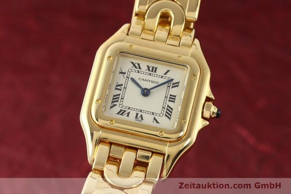 gebrauchte Luxusuhr Cartier Panthere 18k Gold Quarz Kal. 057  | 141334 04