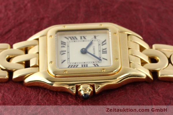 gebrauchte Luxusuhr Cartier Panthere 18k Gold Quarz Kal. 057  | 141334 05
