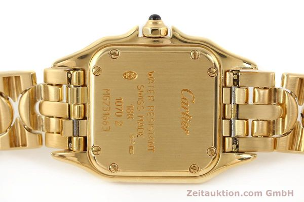 gebrauchte Luxusuhr Cartier Panthere 18k Gold Quarz Kal. 057  | 141334 09