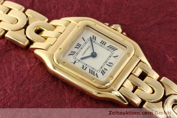 gebrauchte Luxusuhr Cartier Panthere 18k Gold Quarz Kal. 057  | 141334 14