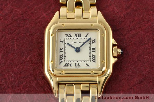 gebrauchte Luxusuhr Cartier Panthere 18k Gold Quarz Kal. 057  | 141334 15