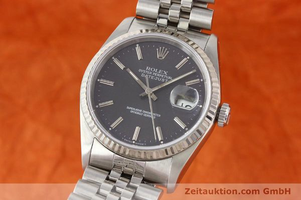 montre de luxe d occasion Rolex Datejust acier / or  automatique Kal. 3135 Ref. 16234  | 141337 04