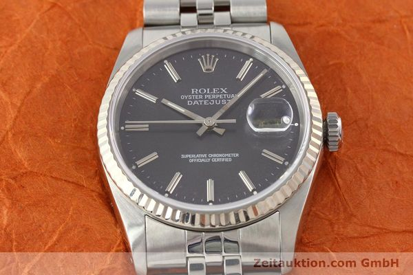 Used luxury watch Rolex Datejust steel / gold automatic Kal. 3135 Ref. 16234  | 141337 17