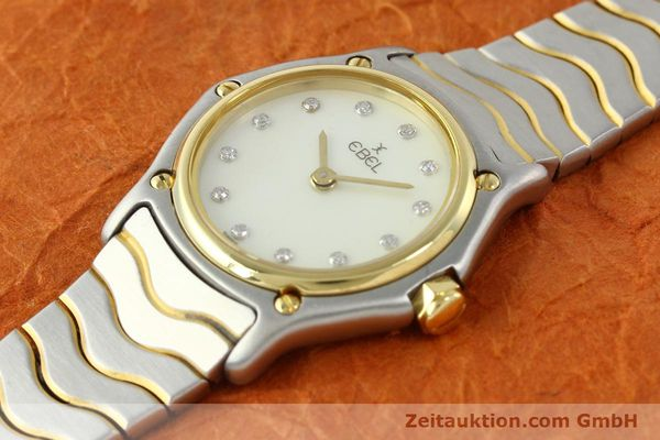 Used luxury watch Ebel Classic Wave steel / gold quartz Kal. 157 Ref. 1057901  | 141340 01