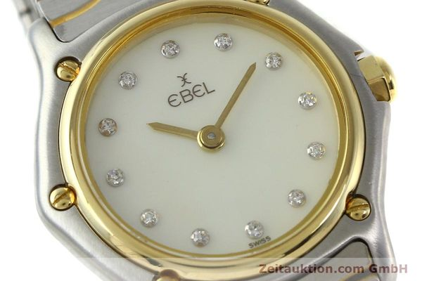 Used luxury watch Ebel Classic Wave steel / gold quartz Kal. 157 Ref. 1057901  | 141340 02