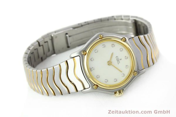 Used luxury watch Ebel Classic Wave steel / gold quartz Kal. 157 Ref. 1057901  | 141340 03