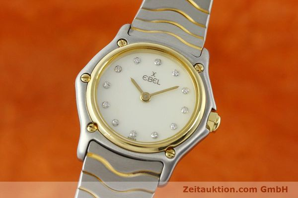 Used luxury watch Ebel Classic Wave steel / gold quartz Kal. 157 Ref. 1057901  | 141340 04