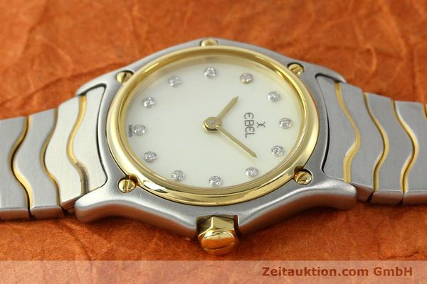 Used luxury watch Ebel Classic Wave steel / gold quartz Kal. 157 Ref. 1057901  | 141340 05