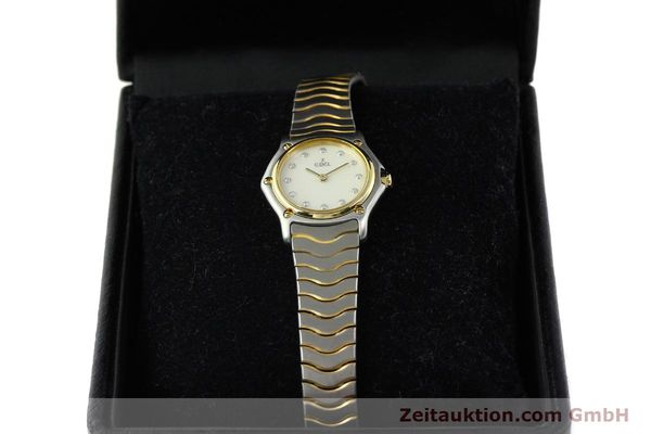 Used luxury watch Ebel Classic Wave steel / gold quartz Kal. 157 Ref. 1057901  | 141340 07