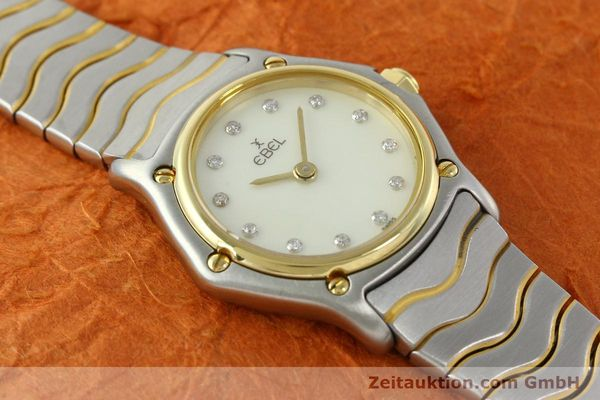 Used luxury watch Ebel Classic Wave steel / gold quartz Kal. 157 Ref. 1057901  | 141340 13