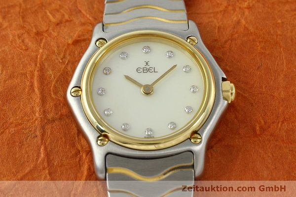 Used luxury watch Ebel Classic Wave steel / gold quartz Kal. 157 Ref. 1057901  | 141340 14