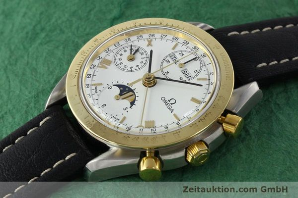 Used luxury watch Omega Speedmaster steel / gold automatic Kal. VAL 7751  | 141343 01