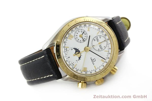 Used luxury watch Omega Speedmaster steel / gold automatic Kal. VAL 7751  | 141343 03
