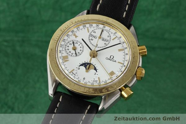 Used luxury watch Omega Speedmaster steel / gold automatic Kal. VAL 7751  | 141343 04