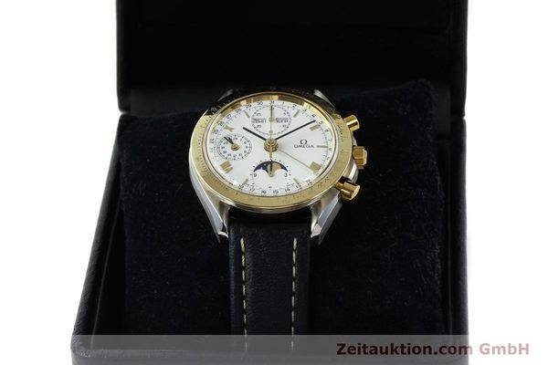 Used luxury watch Omega Speedmaster steel / gold automatic Kal. VAL 7751  | 141343 07
