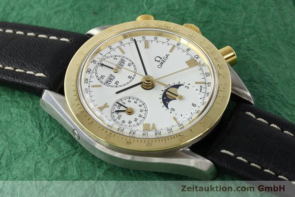 Used luxury watch Omega Speedmaster steel / gold automatic Kal. VAL 7751  | 141343 14