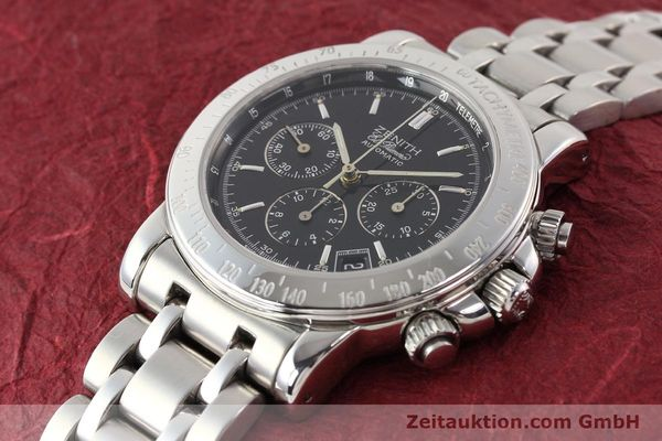 Used luxury watch Zenith Elprimero steel automatic Kal. 400Z Ref. 15/02-0460-400  | 141350 01