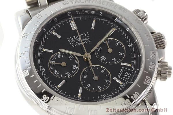 Used luxury watch Zenith Elprimero steel automatic Kal. 400Z Ref. 15/02-0460-400  | 141350 02