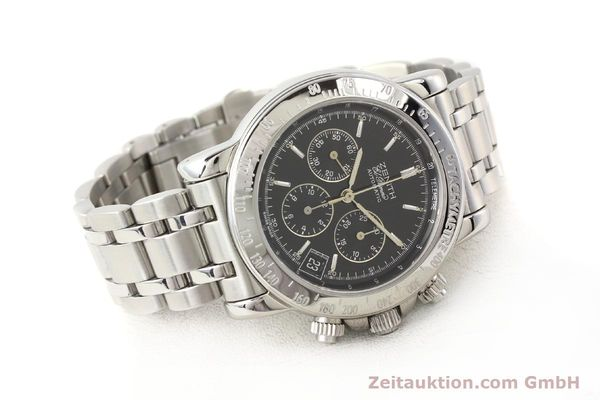 Used luxury watch Zenith Elprimero steel automatic Kal. 400Z Ref. 15/02-0460-400  | 141350 03