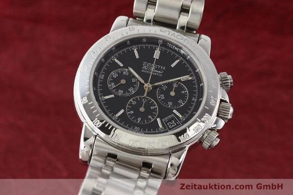 Used luxury watch Zenith Elprimero steel automatic Kal. 400Z Ref. 15/02-0460-400  | 141350 04