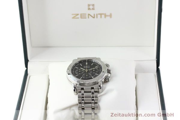 Used luxury watch Zenith Elprimero steel automatic Kal. 400Z Ref. 15/02-0460-400  | 141350 07