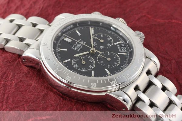 Used luxury watch Zenith Elprimero steel automatic Kal. 400Z Ref. 15/02-0460-400  | 141350 17