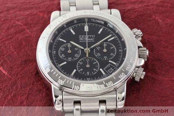 Used luxury watch Zenith Elprimero steel automatic Kal. 400Z Ref. 15/02-0460-400  | 141350 18