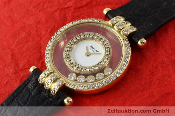 gebrauchte Luxusuhr Chopard Happy Diamonds 18k Gold Quarz Ref. 4114  | 141359 01