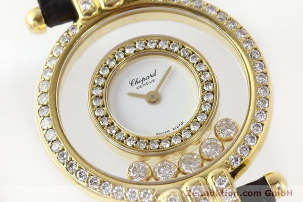 gebrauchte Luxusuhr Chopard Happy Diamonds 18k Gold Quarz Ref. 4114  | 141359 02