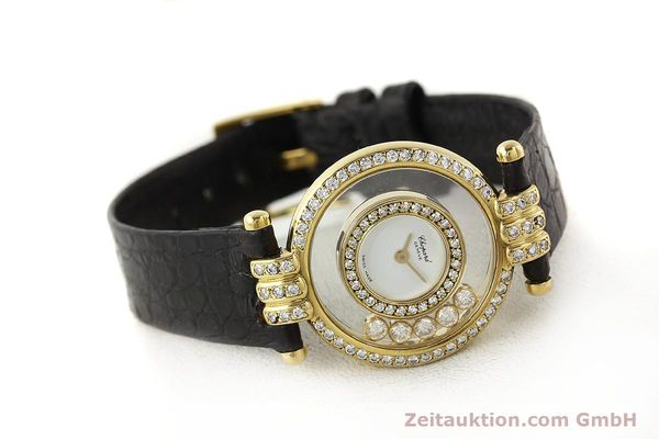 gebrauchte Luxusuhr Chopard Happy Diamonds 18k Gold Quarz Ref. 4114  | 141359 03