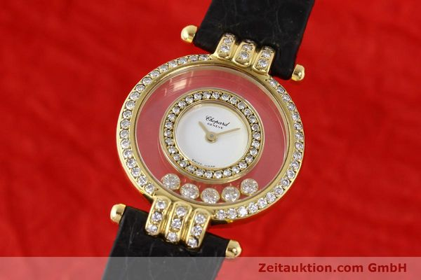 gebrauchte Luxusuhr Chopard Happy Diamonds 18k Gold Quarz Ref. 4114  | 141359 04