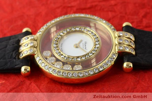 gebrauchte Luxusuhr Chopard Happy Diamonds 18k Gold Quarz Ref. 4114  | 141359 05