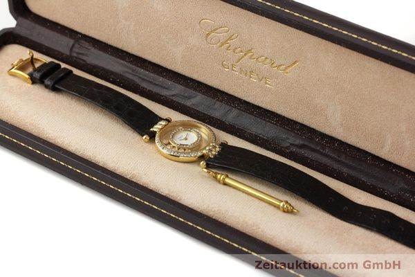 gebrauchte Luxusuhr Chopard Happy Diamonds 18k Gold Quarz Ref. 4114  | 141359 07