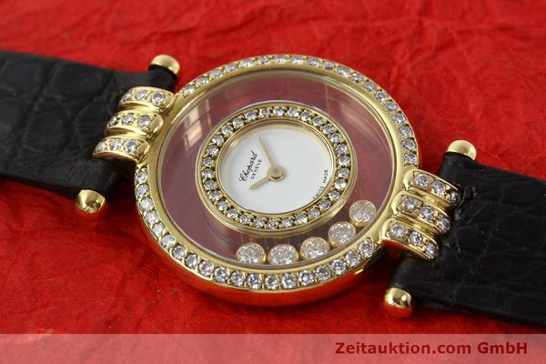 gebrauchte Luxusuhr Chopard Happy Diamonds 18k Gold Quarz Ref. 4114  | 141359 12