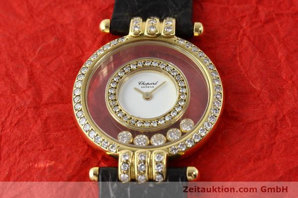 gebrauchte Luxusuhr Chopard Happy Diamonds 18k Gold Quarz Ref. 4114  | 141359 13