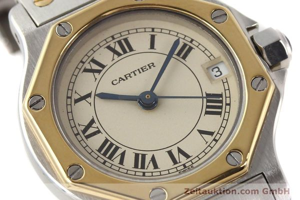 Used luxury watch Cartier Santos steel / gold quartz  | 141360 02