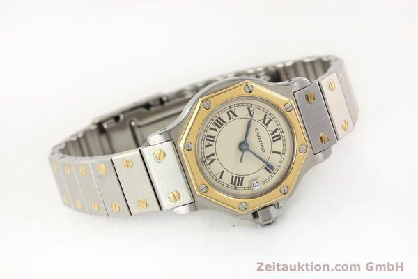 Used luxury watch Cartier Santos steel / gold quartz  | 141360 03