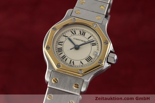 Used luxury watch Cartier Santos steel / gold quartz  | 141360 04