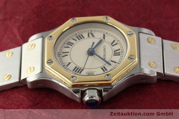 Used luxury watch Cartier Santos steel / gold quartz  | 141360 05