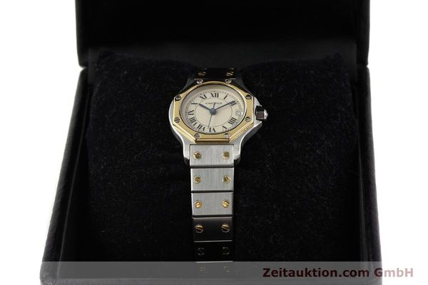 Used luxury watch Cartier Santos steel / gold quartz  | 141360 07
